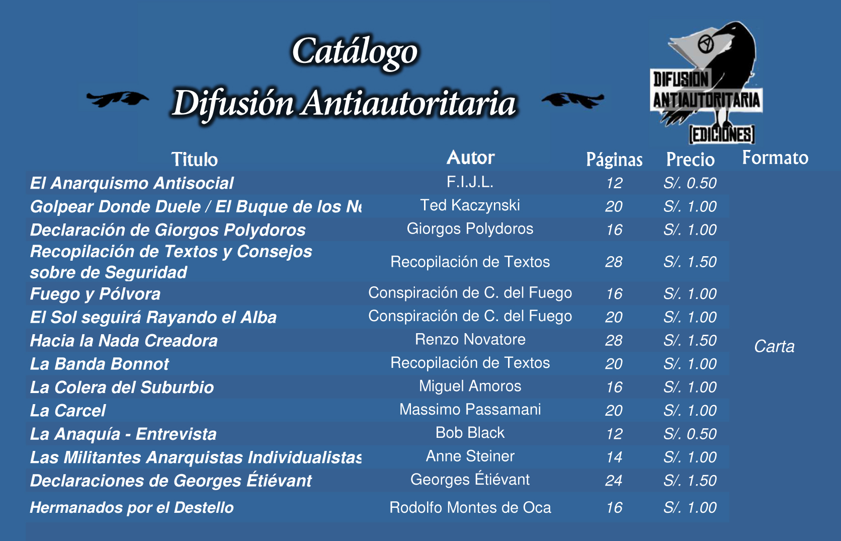 Catalogo Difusion A-Ediciones